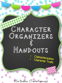 Character Organizers & Printables ~ Reading Comprehension ~ RTI