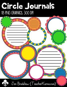 Circle Journal Frames Clip Art ~ Commercial OK