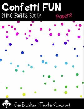 Confetti FUN Papers Clip Art ~  CU OK ~ 8.5 x 11