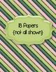 Cool Stripes Papers Clip Art ~ CU OK ~ 8.5 x 11