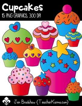 Cupcakes Clip Art ~ CU OK