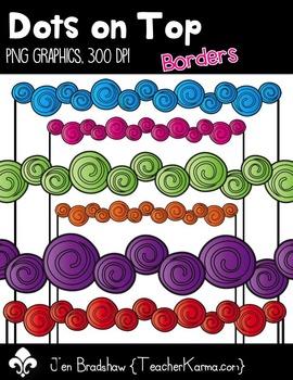 Dots on Top Borders Clip Art ~ 32  ~ CU OK