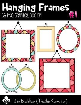 Hanging Frames #1 Clip Art ~ Border