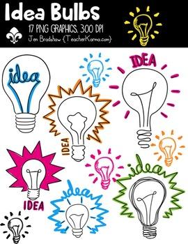 Idea Bulbs Clipart ~ Commercial Use OK ~ Lightbulbs