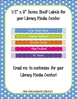 "1/2"" x 6"" Popular Series Shelf Labels for your Library Med"