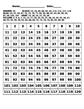 120 Chart - Yellow Minion