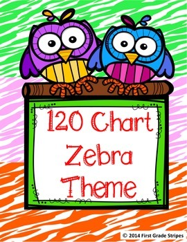 120 Chart Zebra Theme