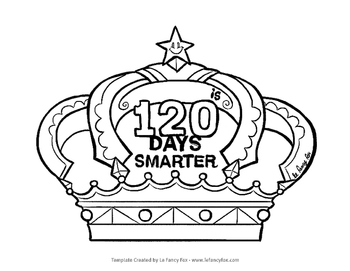 120 Days Crown - Free Template