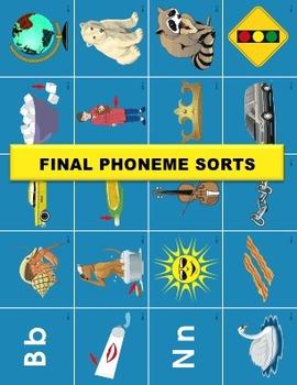 Final Phoneme Sort Manipulatives