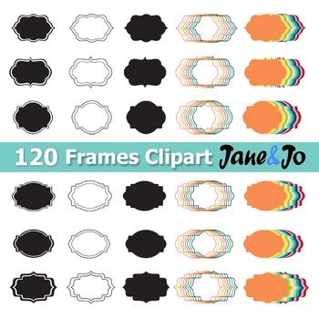 120 Frame Clipart Frame label frames clip art Tag Borders