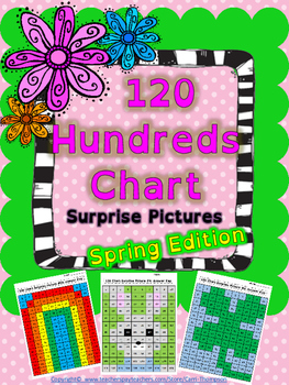 Math: 120 Hundreds Chart Mystery Pictures
