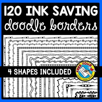 120 INK SAVING DOODLE BORDERS CLIPART