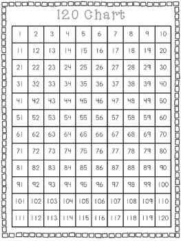120 Number Grid