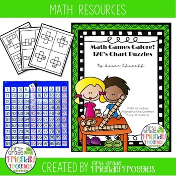 Math Centers - 120's Chart Puzzles