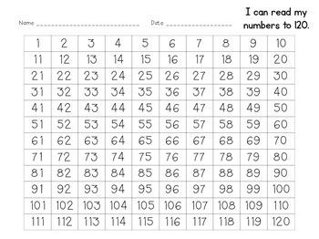 Hundreds Chart 1-120