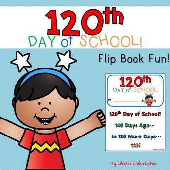 120th Day of School Flip Book