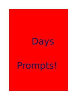 121 Days of Writing Prompts!
