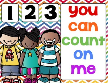 1,2,3,  You Can Count On Me (Counting practice for the sta