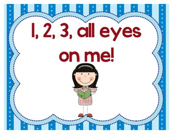 1,2,3 all eyes on me... 4,5,6 our eyes are fixed posters