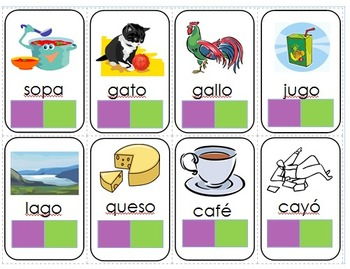 1,2,3,4 Easy Spanish Syllable by Syllable Cards
