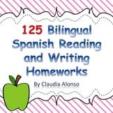 Homework: 125 Bilingual Spanish Reading/Writing Homeworks