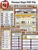 129 Page PDF Pioneer Unit Social Studies Unit