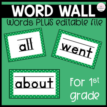 128 First Grade High Frequency and Sight Words for Your Wo