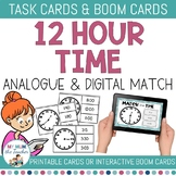 12-hour Time Clip Cards