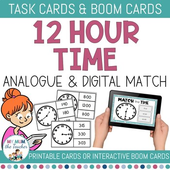 12hour Time Clip Cards