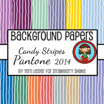 13 Background Papers Candy Stripe Pantone 2014 12x12 perso