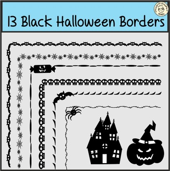 13 Black Halloween Borders