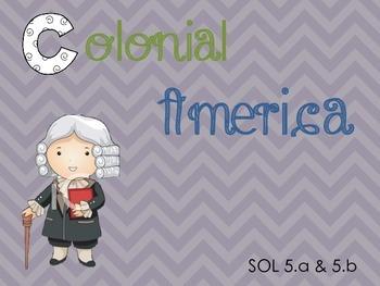 Early American Colonies Bundle (pdf presentation, foldable