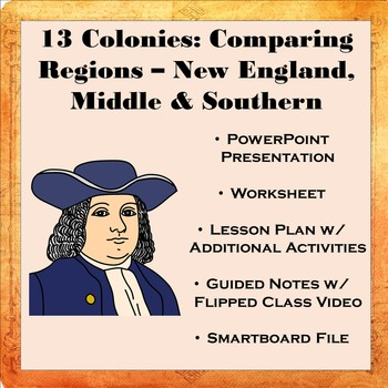 13 Colonies: Comparing Regions - New England, Middle, & So