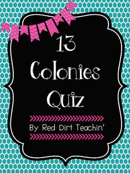 13 Colonies Quiz