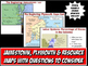 13 Colonies Satellite Map - Geography of Colonial America