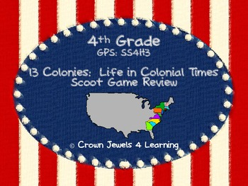 13 Colonies Scoot Game Review- GPS: SS4H3