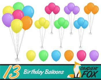 13 Party Balloons