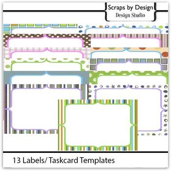 13 Savy  Label/Taskcard Template