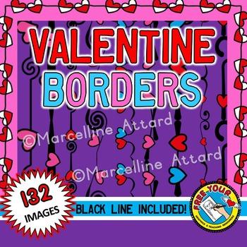 VALENTINE BORDERS: VALENTINE'S DAY CLIPART: VALENTINE CLIP