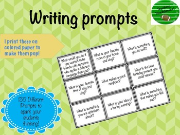 135 Writing Prompts!