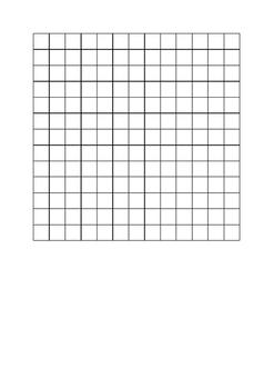 13x13 unit table