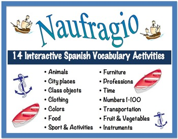14 Interactive Spanish Vocabulary Activities for Pairs or