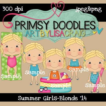 14-Summer Girls-Blonde 300 dpi clipart