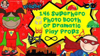 146 Different Superhero Props for Photo Booth Dramatic Pla