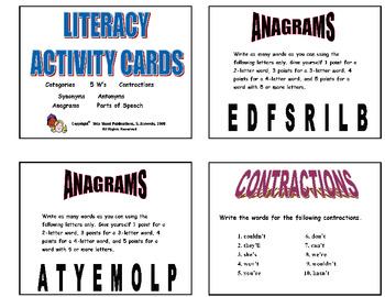 146 LITERACY TASK CARDS Grades 2-3 (Main Idea, Fact/Opinio