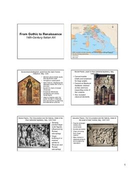 14th Century Italian Art Notes