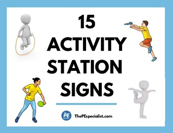 PE Resource - 15 Awesome Activity Stations, Great for Phys