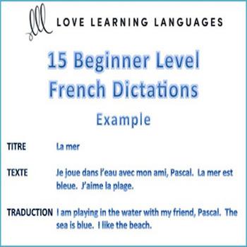 15 Beginner Level French Dictées