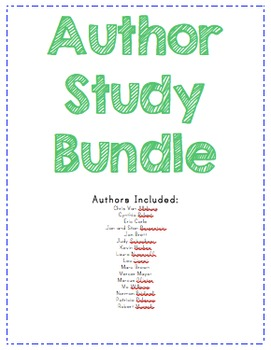 14 Children's Author Studies with QR Codes