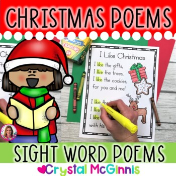 14 Christmas Themed Sight Word Poems for Shared Reading (f